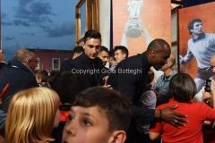 31/05/2016 Roma puntata speciale SOGNO AZZURRO, nella foto Darmian e Ogbonna con i bambini delle scuole calcio
