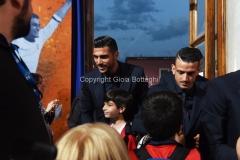 31/05/2016 Roma puntata speciale SOGNO AZZURRO, nella foto Pellè, Florenzi con i bambini delle scuole calcio
