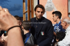 31/05/2016 Roma puntata speciale SOGNO AZZURRO, nella foto: Marchetti con i bambini delle scuole calcio