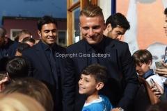 31/05/2016 Roma puntata speciale SOGNO AZZURRO, nella foto: Eder Immobile con i bambini delle scuole calcio