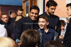 31/05/2016 Roma puntata speciale SOGNO AZZURRO, nella foto Eder con i bambini delle scuole calcio