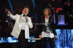 13/09/2014 Roma puntata di Sogno e son desto 2, nella foto: Massimo Ranieri e Gianna Nannini