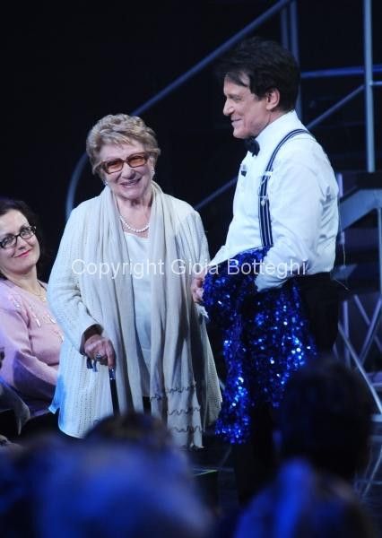 16/01/2016 Roma prima puntata di Sogno e son desto 3, nella foto: Massimo Ranieri e Valeria Valeri