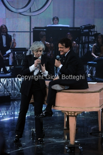 16/01/2016 Roma prima puntata di Sogno e son desto 3, nella foto: Massimo Ranieri e Morgan