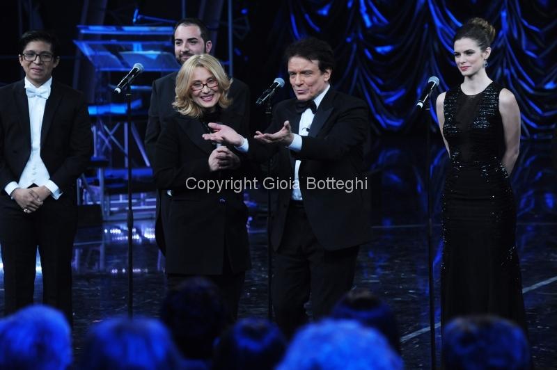 16/01/2016 Roma prima puntata di Sogno e son desto 3, nella foto: Massimo Ranieri e Nicoletta Mantovani