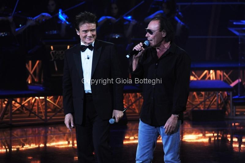 16/01/2016 Roma prima puntata di Sogno e son desto 3, nella foto: Massimo Ranieri e Antonello Venditti