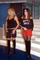 Loredana e Raffaella Lecciso durante le prove di Domenica in con loro il ballerino Corrado