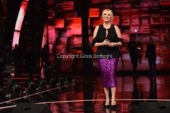 17/02/2017 Roma prima puntata della trasmissione STANDING OVATION rai uno, nella foto Antonella Clerici la conduttrice e la giuria con Romina Power, Loredana Bertè e Nec
