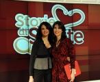 Roma 15/02/2010 trasmissione STORIE DI SALUTE rai due in onda ogni martedì, presentato da Luana Ravegnini, ospite Maria Grazia Cucinotta