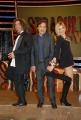 25/11/08 Roma nuovo prgramma di raidue Stracult, nella foto Elena Di Cioccio Fabio Caressa e Francesco Scimemi