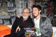 Roma, 16 aprile 2012. Rai,trasmissione di raidue STRACULT, nella foto: Paolo Ruffini, Marco Giusti