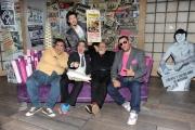 Roma, 16 aprile 2012. Rai,trasmissione di raidue STRACULT, nella foto: Paolo Ruffini, Marco Giusti, Lallo Circosta, G-Max, Francesco Scimemi