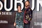 Foto/IPP/Gioia Botteghi 04/10/2017 Roma, red carpet di SUBURRA la serie, nella foto:    Alessandro Borghi e signora