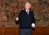 Foto/IPP/Gioia Botteghi Roma 20/12/2019 Presentazione del programma Super Quark, nella foto Piero Angela 91 anni domenica 22 dicembre  Italy Photo Press - World Copyright