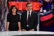 Foto/IPP/Gioia Botteghi 09/10/2017 Roma, puntata di Night Tabloid, nella foto: Il Ministro Carlo Calenda con Annalisa Bruchi