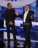 12/09/2014 Roma puntata di Tale e Quale show, nella foto: Carlo Conti con Gabriele Cirilli