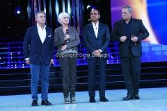16/09/2016 Roma programma di rai uno Tale e Quale show, nella foto Carlo Conti con la giuria