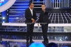 18/09/2015 Roma puntata della trasmissione di rai uno tale e quale show, nella foto: Carlo Conti, Gabriele Cirilli