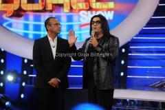 18/09/2015 Roma puntata della trasmissione di rai uno tale e quale show, nella foto: Carlo Conti con Max Giusti