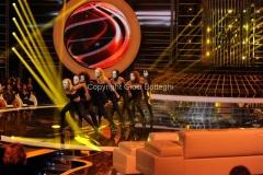 21/09/2012 Roma trasmissione rai Tali e Quali Show, nella foto il balletto la sigla