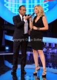 21/09/2012 Roma trasmissione rai Tali e Quali Show, nella foto Carlo conti e Lorella Cuccarini