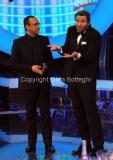Roma 9/12/2012 serata speciale Tali e quali show coppie, nella foto: Carlo Conti e David Pratelli