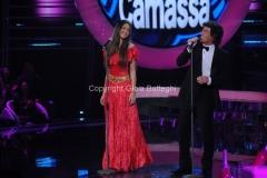 Roma 9/12/2012 serata speciale Tali e quali show coppie, nella foto: Pamela Camassa e Flavio Montrucchio