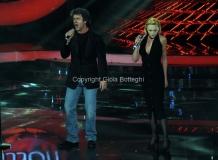 Roma 9/12/2012 serata speciale Tali e quali show coppie, nella foto: Paolo Conticini e Rosalia Misseri