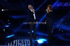 Roma 9/12/2012 serata speciale Tali e quali show coppie, nella foto: Jo di Tonno, Mietta