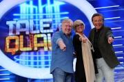 11/09/2013 Roma presentazione della trasmissione Tali e Quali, nella foto la giuria Loretta Goggi Claudio Lippi, Christian De Sica
