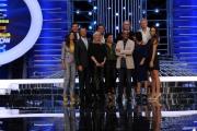 11/09/2013 Roma presentazione della trasmissione Tali e Quali, nella foto Carlo Conti con il cast