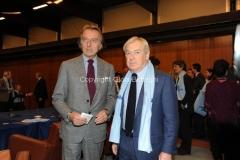 14/12/2010 Roma Conferenza stampa di presentazione in rai per il Telethon, nella foto il presidente della rai Paolo Garimberti e Luca di Montezemolo, Presidente Telethon,