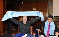 14/12/2010 Roma Conferenza stampa di presentazione in rai per il Telethon, nella foto Paolo Belli e Fabrizio Frizzi