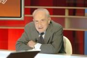 Gioia Botteghi/OMEGA 21/02/06Tg la7 ospite il giornalista Giovanni Sartori