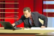 Gioia Botteghi/OMEGA 21/02/06Tg la7 conduce il giornalista Antonello Piroso
