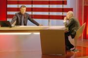 Gioia Botteghi/OMEGA 21/02/06Tg la7 conduce il giornalista Antonello Piroso conduzione con un ospite diverso tutte le sere nella foto Giovanni Sartori