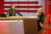 21/02/06Tg la7 conduce il giornalista Antonello Piroso conduzione con un ospite diverso tutte le sere nella foto Giovanni Sartori