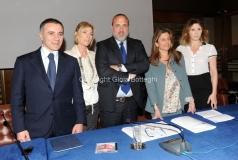 28/3/2012 Roma presentazione di TG 2 INSIEME, nella foto: Rocco Tolfa, Maria Concetta Mattei, Marcello Masi, Ida Colucci, Emanuela Moreno.