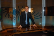 16/10/08 presentazione della nuova scenografia del tg3, nella foto Niccolò Bellagamba