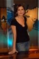 16/10/08 presentazione della nuova scenografia del tg3, nella foto Bianca Berlinguer