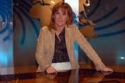 16/10/08 presentazione della nuova scenografia del tg3, nella foto Roberta Serdoz