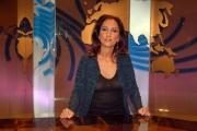 16/10/08 presentazione della nuova scenografia del tg3, nella foto Lucia Goraci,