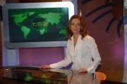 16/10/08 presentazione della nuova scenografia del tg3, nella foto Elisabetta Morgonari,