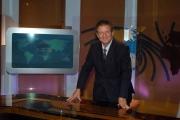 16/10/08 presentazione della nuova scenografia del tg3, nella foto il direttore Antonio Di Bella