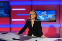 Foto/IPP/Gioia Botteghi 31/07/2014 Roma Il nuovo studio del tgr lazio digitale, nella foto la giornalista Isabella di Chio