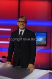 31/07/2014 Roma Il nuovo studio del tgr lazio digitale, nella foto il direttore del tgr Vincenzo Morgante