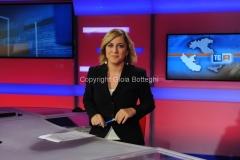 31/07/2014 Roma Il nuovo studio del tgr lazio digitale, nella foto la giornalista Isabella di Chio