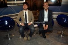 26/05/2016 Roma tgr tribune elettorali comunali, nella foto Alessandro Mustillo, Roberto Giachetti