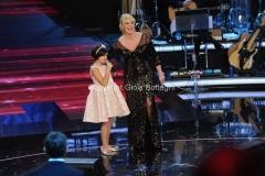 01/02/2014 Roma Prima puntata di Ti lascio una canzone, nella foto: Flavia Marasco Antonella Clerici