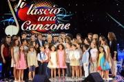 12/09/2015 Roma prima puntata della trasmissione di rai uno TI LASCIO UNA CANZONE, nella foto Antonella Clerici e Antonio Conte e Martina Stoessel